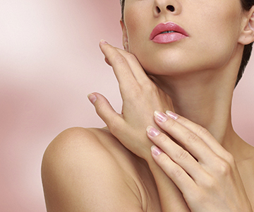 Beauty woman hands with health skin on pink background, Plano Dermatologist