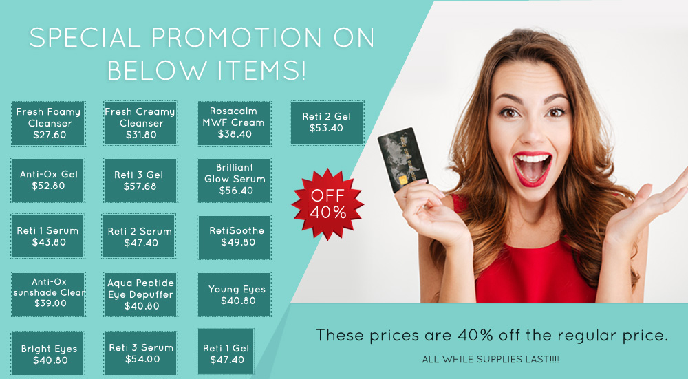 2019 Special promotions 40% off  Plano, DSA Dermatology